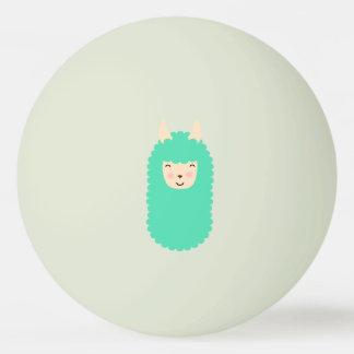 Happy Emoji Llama Ping Pong Ball (glow in dark)