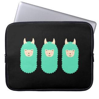 Happy Emoji Llamas Laptop Sleeve