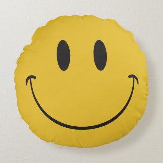 happy emoji round cushion