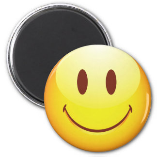 Happy Emoticon 6 Cm Round Magnet