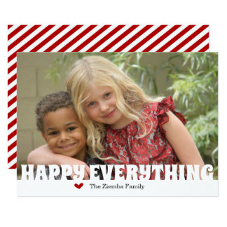 Happy Everything Christmas Holiday Photo Card