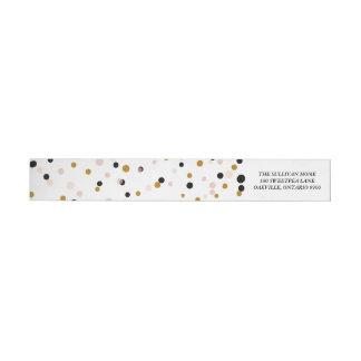 Happy Everything Confetti   Holiday Address Label Wraparound Return Address Label