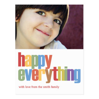 Happy Everything Holiday Photo Card Post Card