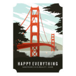 Happy Everything in San Francisco 13 Cm X 18 Cm Invitation Card