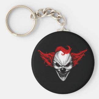 Happy Evil Clown Red Hair Key Ring