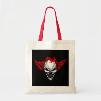 Happy Evil Clown Red Hair Tote Bag