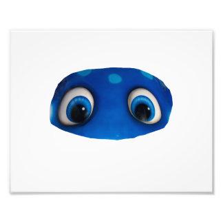 Happy Eyes Blue Cutout Art Photo