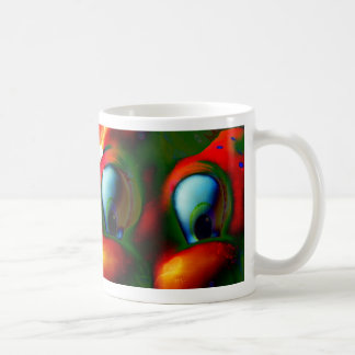 Happy Eyes Solarized Crazy Red Green Coffee Mugs
