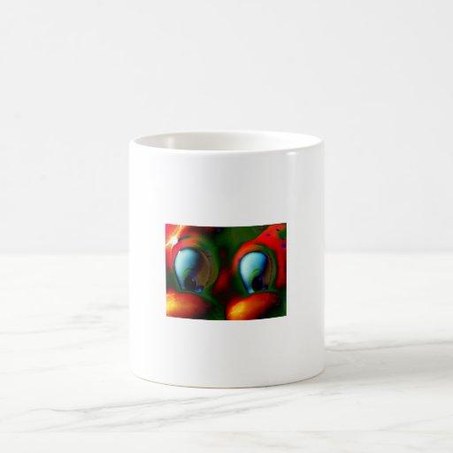 Happy Eyes Solarized Crazy Red Green Coffee Mug