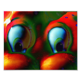Happy Eyes Solarized Crazy Red Green Photograph