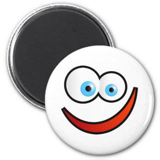 Happy Face 6 Cm Round Magnet