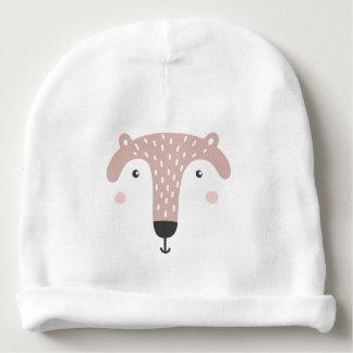 Happy Face Bear Custom Cotton Beanie Baby Beanie