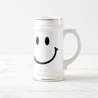 Happy Face Beer Stein