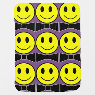 Happy Face Bow Tie Blanket