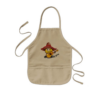 Happy Face Cinco de Mayo T-shirts and Gifts Kids Apron