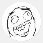 Happy Face Classic Round Sticker