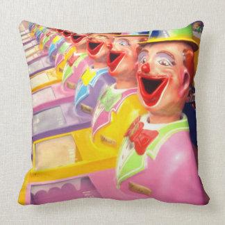 Happy Face Clowns, Large Throw Cushion. Cushion