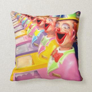 Happy Face Clowns, Throw Cushion. Cushion