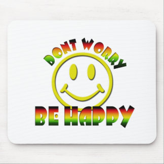 Happy Face - Don t Worry Be Happy Rastafari Colors Mouse Pads