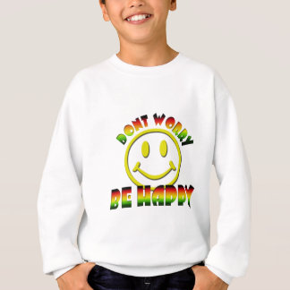 Happy Face - Don't Worry Be Happy Rastafari Colors Sweatshirt