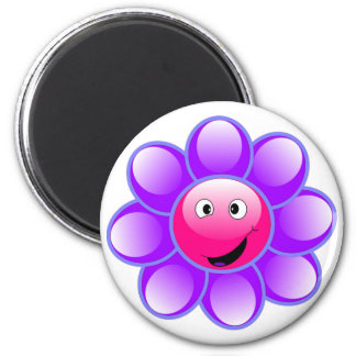 Happy Face Flower Magnet