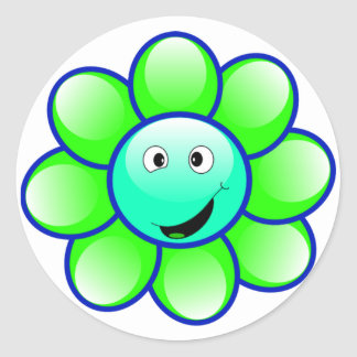 Happy Face Flower Stickers