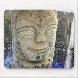 Happy face fountain mousepad