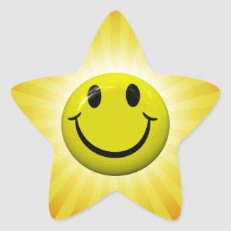 Happy Face Fun Yellow Star Stickers
