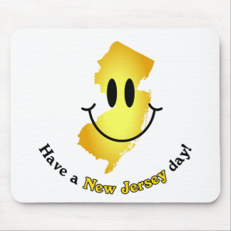 Happy Face - Have a New Jersey Day Mouse Pads