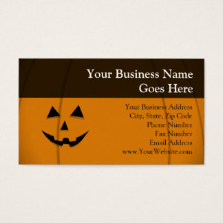 Happy Face Jack-O-Lantern Business Card