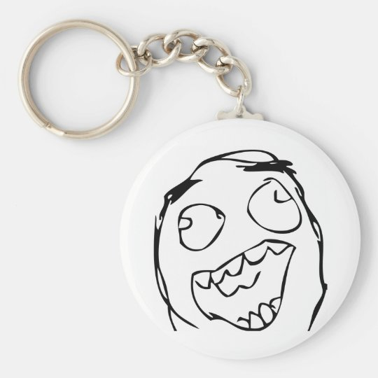 Happy Face Key Ring