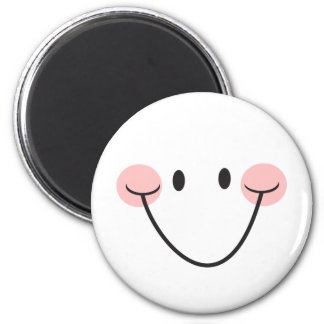 Happy face or cute smiley magnet