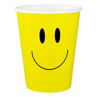 """Happy Face"" Paper Cups"