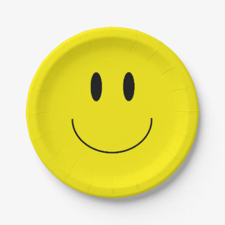 """""""Happy Face"""" Paper Plates"""
