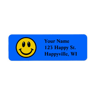 Happy Face Return Address Label