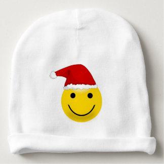 Happy Face Santa Baby Beanie