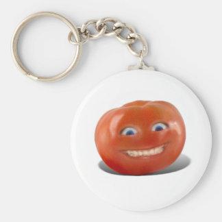 Happy Face Smiling Tomato Key Ring