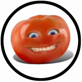 Happy Face Smiling Tomato Standing Photo Sculpture