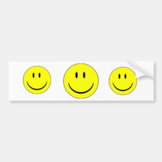 Happy Face Sticker Label Bumper Sticker