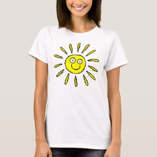 Happy Face Sun Design Cute T-shirt