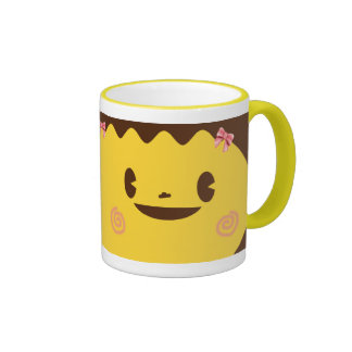Happy Face with bows Ringer Mug