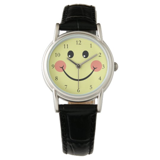 Happy Face with Numbers Watch