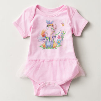 Happy Fairy Baby TuTu Body Suit Baby Bodysuit