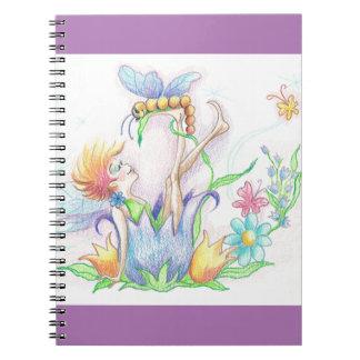 Happy Fairy Fantasy Art Notebook