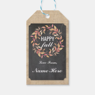 Happy Fall Harvest Festival Gift Tags Chalk Tag
