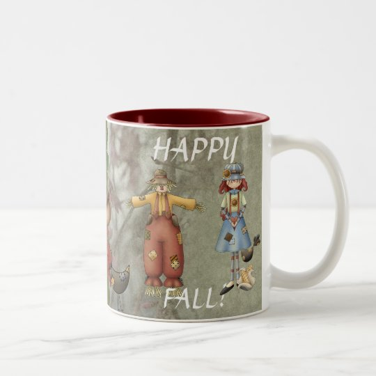 Happy Fall Two-Tone Coffee Mug