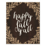 Happy Fall Y'all | Art Print Photo Print