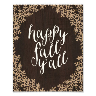 Happy Fall Y'all | Art Print Photo Print