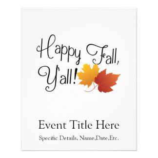 Happy Fall Ya'll It's Autumn Non-Halloween Harvest Flyer