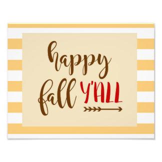 Happy Fall Y'all Photo Art